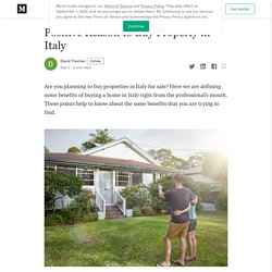 Positive Reason to Buy Property in Italy