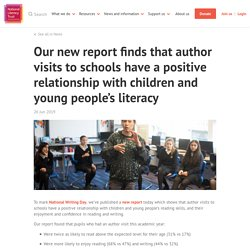 Our new report finds that author visits to schools have a positive relationship with children and young people's literacy