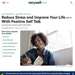 How to Use Positive Self Talk for Stress Relief