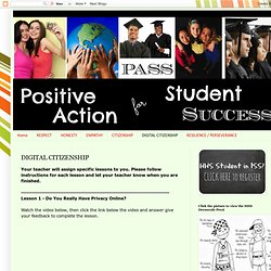 Positive Action for Student Success: DIGITAL CITIZENSHIP