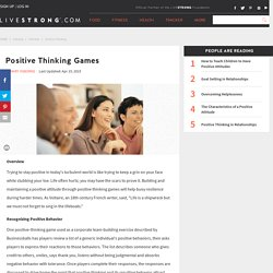 Positive Thinking Games