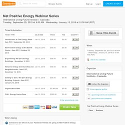 Net Positive Energy Webinar Series