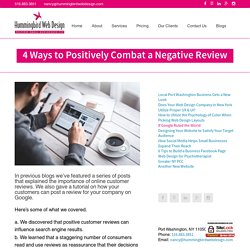 4 Ways to Positively Combat a Negative Review