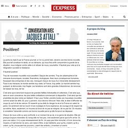 Conversation avec Jacques Attali