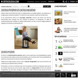 Castigo positivo vs castigo negativo - depsicologia.com