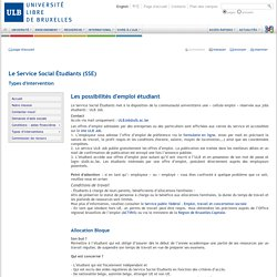 Les possibilités d'emploi étudiant : ULB Job