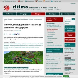 Minetest, Serious game libre : intérêt et possibilités pédagogiques - Ritimo