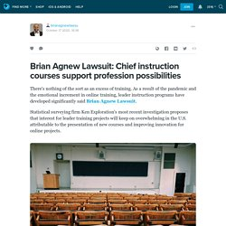 Brian Agnew Lawsuit: Chief instruction courses support profession possibilities : brianagnewlawsu — LiveJournal