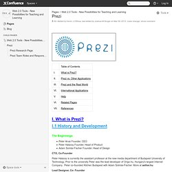 Prezi - Web 2.0 Tools - New Possibilities for Teaching and Learning - Confluence