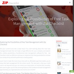 Exploring the Possibilities of Free Task Management with Zip Checklist