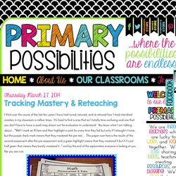 Primary Possibilities: Tracking Mastery & Reteaching