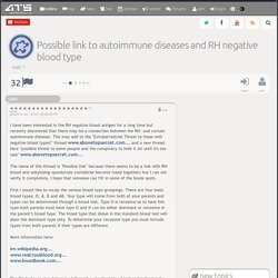 Possible link to autoimmune diseases and RH negative blood type, page 1