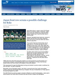 Japan front row scrums a possible challenge for Boks:Saturday 19 September 2015