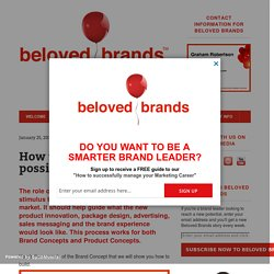 How to build the best possible Brand Concept