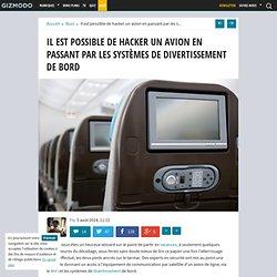 Il est possible de hacker un avion en passant par les systèmes de divertissement de bord