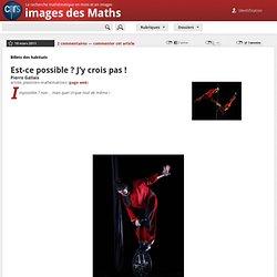 Images des mathématiques - Est-ce possible ? J'y crois pas !