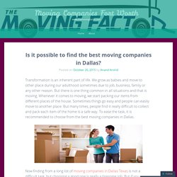 Local Moving Company Dallas