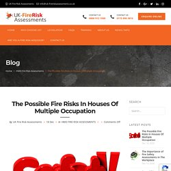 The Possible Fire Risks In Houses Of Multiple Occupation