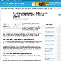 Possible negative impacts of GMOs on health and skin: How to avoid GMOs in skincare products