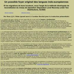 Un possible foyer originel des langues indo-européennes