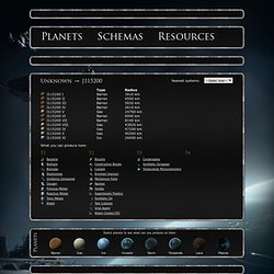 J115200 - System. Planets radius and possible schemas. Eve online planetary interaction