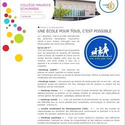 Une école pour tous, c'est possible - Collège Maurice Schumann de Pecquencourt et Montigny