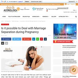 Is it possible to Deal with Marriage Separation during Pregnancy