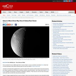 Possible Subsurface Ocean Beneath Saturn Moon Dione - Space News