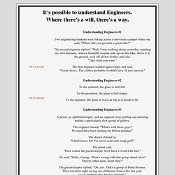 It is possible to understand Engineers - Where theres a will, theres a way.