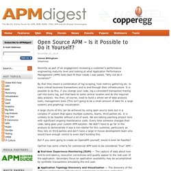 Open Source APM – Is it Possible to Do it Yourself?