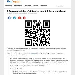 2 façons possibles d'utiliser le code QR dans une classe
