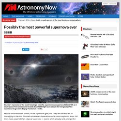 Possibly the most powerful supernova ever seen