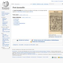 Post-incunable