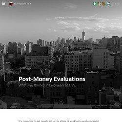 Post-Money Evaluations