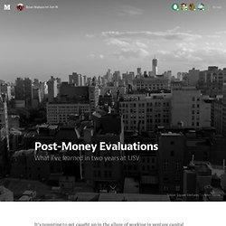 Post-Money Evaluations