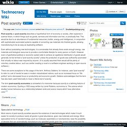 Post scarcity - Technocracy Wiki
