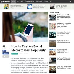 How to Post on Social Media to Gain Popularity