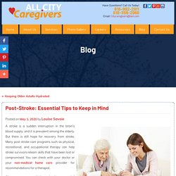 Post-Stroke: Essential Tips to Keep in Mind