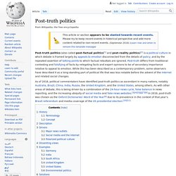 Post-truth politics - Wikipedia
