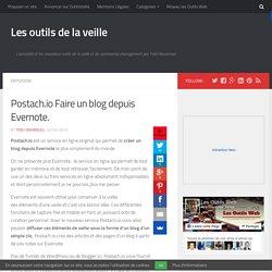 Postach.io Faire un blog depuis Evernote