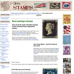 Top rarest stamps of the world, value & prices
