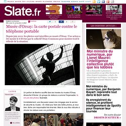 Mus?e d'Orsay: la carte postale contre le t?l?phone portable