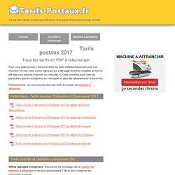 Tarifs postaux 2017 - Documents pdf à télécharger