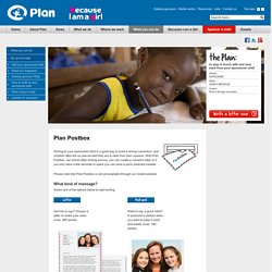 Plan Postbox - Plan UK - Write to your sponsored child