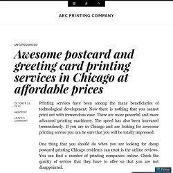 Awesome postcard and greeting card printing services in Chicago at affordable prices