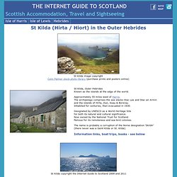 St Kilda books, photos, postcards, posters, Hebrides Scotland
