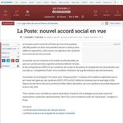 La Poste: nouvel accord social en vue