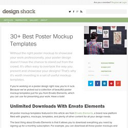 30+ Best Poster Mockup Templates