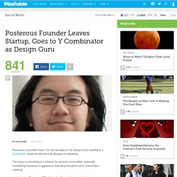 Posterous Founder Leaves Startup, Goes to Y Combinator as Design Guru