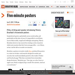 Five-minute posters | Blog | Computer Arts magazine